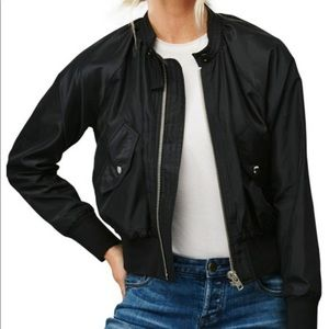 Free People Bomber Jacket Black Size Medium